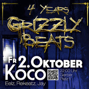 Grizzly Beats Jubiläum am Fr. 2. Oktober 2015!