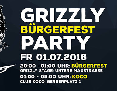 Grizzly Bürgerfest Party