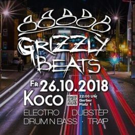 Grizzly Beats am Fr. 26.10.2018