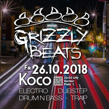 Grizzly Beats am Fr. 26.10.2018!