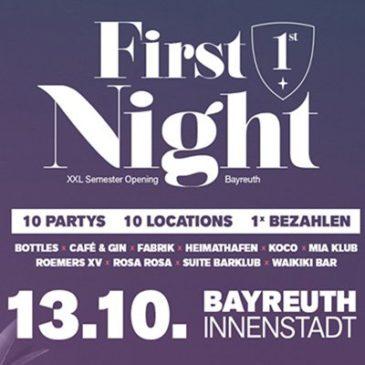 First Night am 13. Oktober 2018!